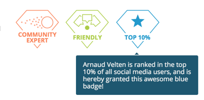 Arnaud Velten by @Klear : Community expert , friendliness : top 10%  : Social Media users