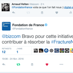 Un bravo du compte de la Fondation de France ;) #YEAH
