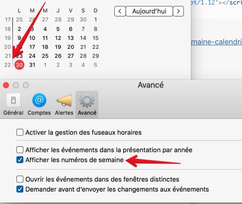OSX : Afficher Numéros de Semaine dans Calendrier ou Calendar ou BusyCal