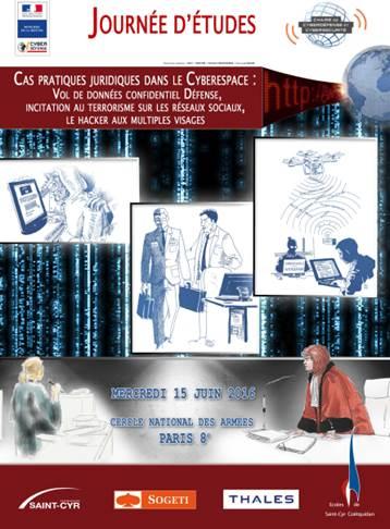 15-06-2016 :  Journée d'études : Cas pratiques #juridiques dans le #Cyberespace