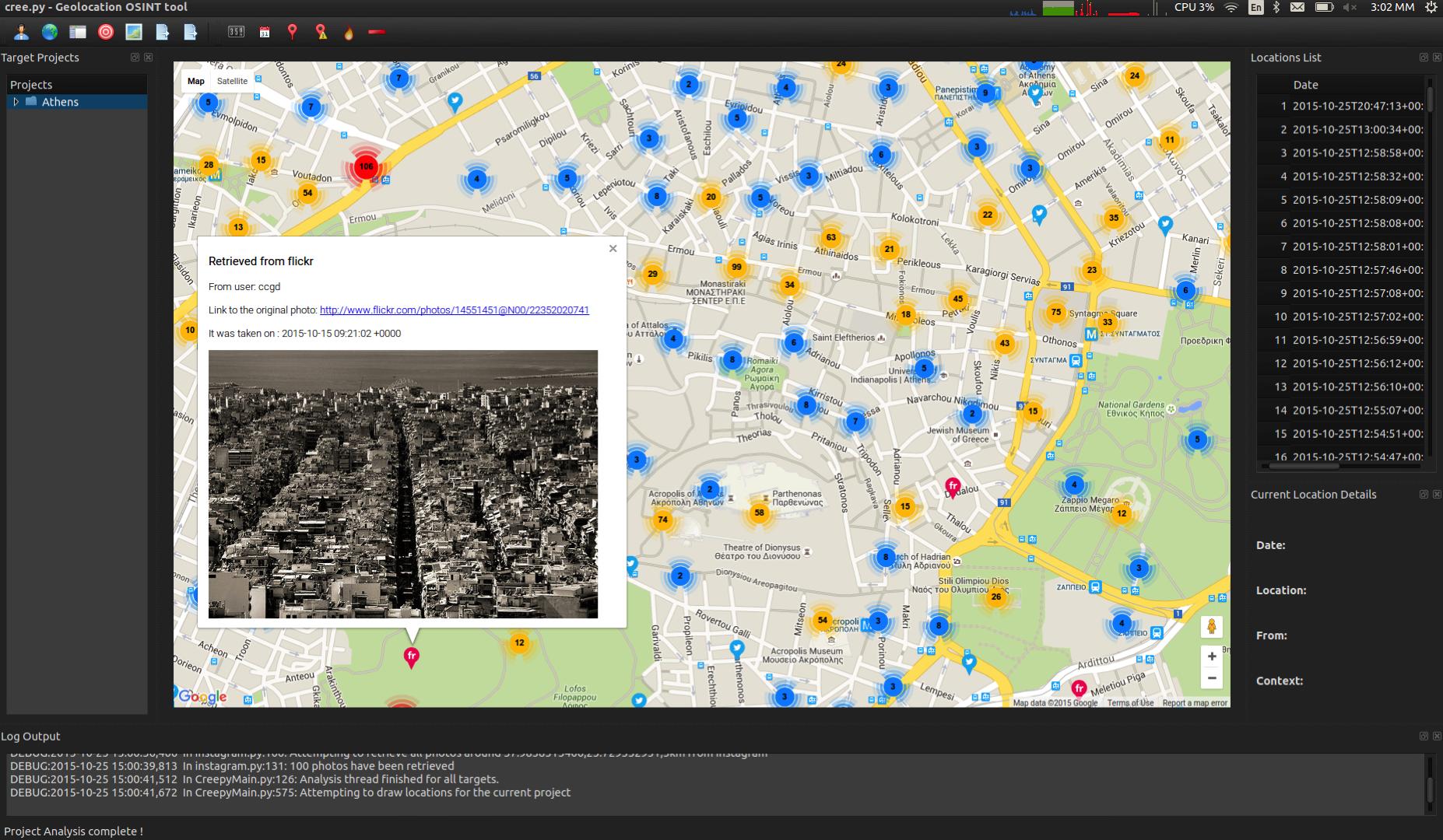 #OSINT #Cree.py Cartographier & visualiser les traces sur les réseaux sociaux
